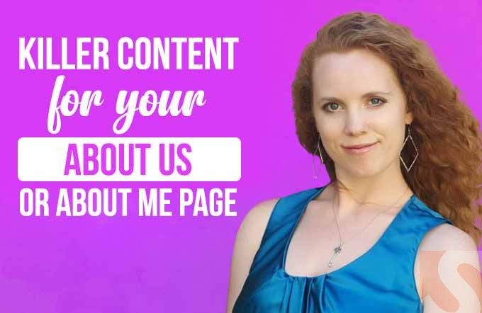 I will write you a killer about us or about me page