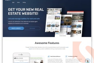I will build your real estate investor or real estate lead generation website