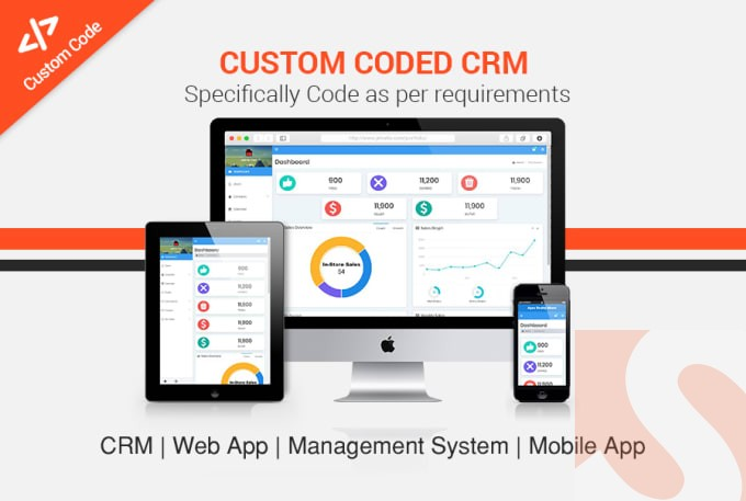 I will develop custom CRM and web application for you