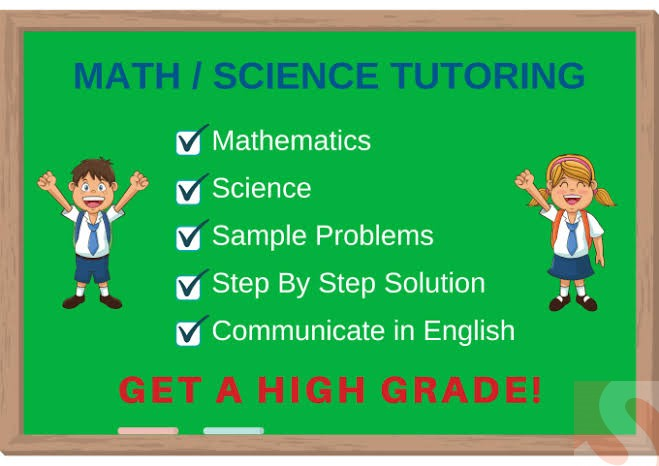 I will teach online math and science for grade 1 to 8