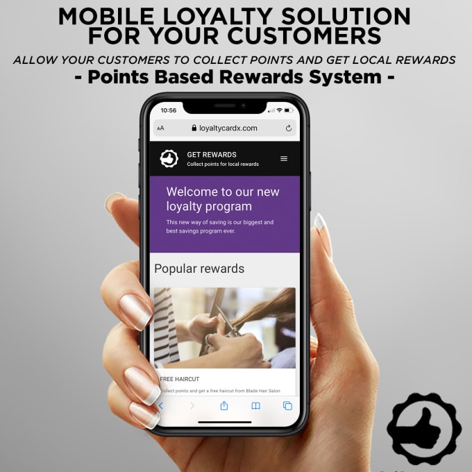 Points based loyalty program to increase sales